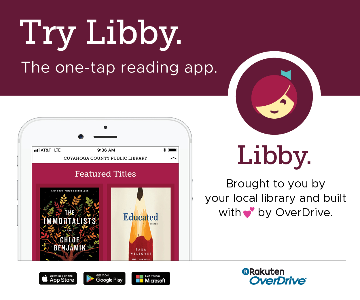 Try Libby the ebook app